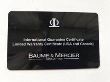 Baume Et Mercier Warrany Card With Case