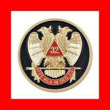 32°CONSISTORY FREEMASONS'SCOTTISH RITE AUTO CAR BADGE EMBLEM:MASONIC FREE MASONS