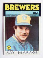 Ray Searage #642 Topps 1986 Baseball Card (Milwaukee Brewers) VG