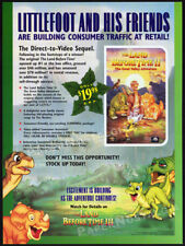 THE LAND BEFORE TIME II: Great Valley Adv__Orig. 1995 Trade print AD_video promo