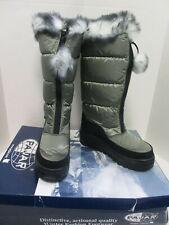 PAJAR 'Tobogan' metal/ black waterproof nylon snow boots sz 38 NWB