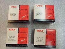 Lot / Bundle de 4 Rubans neufs couleurs OKI pour Microline 590c 591c ...