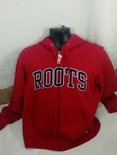 ROOTS Athletics M Red Zip Hoodie Sweatshirt Canada 150 Prove Your Pride Trashed