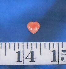 ~ Coral ~ Natural Pink Carved Heart ~ 8mm ~ Shellcraft ~ Sailor's Valentines ~