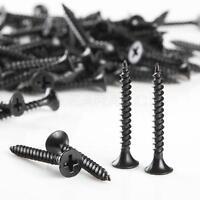 """500pcs New Phillips Fine Thread Drywall Screw  #6 X 1-1/4"""" Black"""