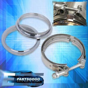 """4"""" S/S 304 V-Band Clamp Flange Stainless Steel 4 Inch For Exhaust Downpipes"""