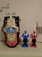 Power rangers super megaforce phone morpher with key avec clé bleu rouge red blu