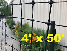 Strong Garden Fencing 4' x 50' Black Garden protection Free Shipping