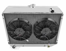 "1970-1974 Dodge Challenger Big Blk Aluminum 4 Row Champion Radiator & 12"" Fans"