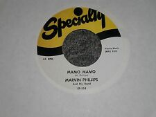 """Marvin Phillips: Mamo Mamo~Marvin & Johnny: Ding Dong Baby~45rpm 7"""" Single"""