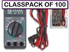 (CLASSPACK OF 100) VELLEMAN DVM810 MINI 3 1/2 DIGIT DIGITAL MULTIMETER-19 RANGES