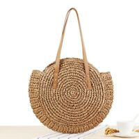 Summer Straw Beach Woven Handmade Handbags  Women Shoulder Bags Rattan Tote Bags