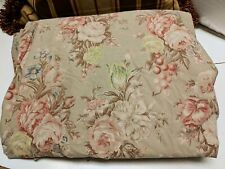 Ralph Lauren Charlotte Full Double Fitted Sheet Shabby Green Floral Bad Elastic