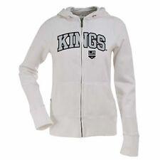 NEW BLACK Los Angeles Kings Ladies Signature Applique Full Zip Hoodie Small