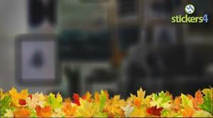 Photorealistic Autumn Leaves Border - Shop Window Cling Sticker