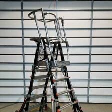 Little Giant 18509 240 5ft 9ft Adustable Aerial Safety Cage Platform Ladder