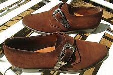 Salvatore Ferragamo Mens Brown Suede Monk Strap Loafer Dress Shoes 11B