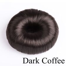 Bun Maker Doughnut Magic Roll Tool DIY Hair Foam Ring Shaper Snap Lock Rolls Dark Coffee