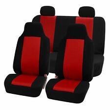 Highback Seat Covers Seat For Car SUV Auto Van Full Set Red Black