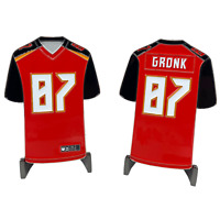CL4-01 Rob Gronkowski GRONK inspired Tampa Bay Bucs Home Jersey Bucaneers Challe