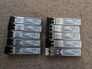 10 X CISCO SFP-GE-S 1gig Multimode Modules for Switches/Routers