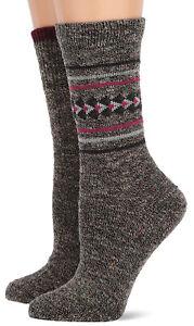 Wise Blend Womens merino Wool Casual Aztec Fashion Pattern Crew Boot Socks 2 PK
