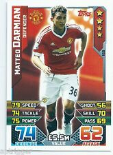 2015 / 2016 EPL Match Attax Base Card (168) Matteo DARMIAN Manchester United