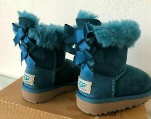 Orig.UGG Australia Stiefel blau Bailey Bow Schaffell Boots Schuhe UK 5 Gr.22.5