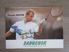 Thomas modello originale a mano con firma autografo mappa! (con dedica) Tennis
