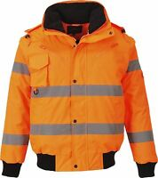 Portwest Hi-Vis 3-in-1 Bomber Jacket Workwear warmth wind resistant  C467