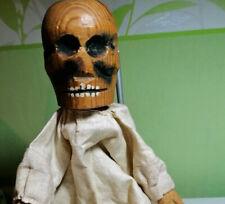 1  marionnette ancienne Guignol/Punch  TETE en bois sculpte ancienne skeleton