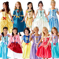 Disney Princess Girls Fancy Dress World Book Day Childrens Childs Kids Costume