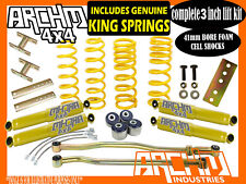 """TOYOTA LANDCRUISER 80 100 SERIES 3"""" INCH LIFT KIT COIL SPRINGS & ARCHM4X4"""