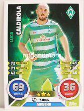 Match Attax 2016/17 Bundesliga - #043 Luca Caldirola - SV Werder Bremen