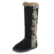 Kniehohes Stiefel ohne Verschluss für Kleiner Absatz (Kleiner als 3 cm) und Freizeit
