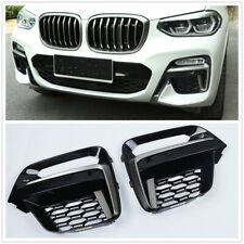 Pair Car Front Fog Light Frame Cover Grille Trim For BMW X3 X4 G01 G02 2018-2020