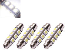 4x 6 VOLT 42MM FESTOON LED BULB 12 SMD CLASSIC MOTORCYCLE SCOOTER 6V DC White