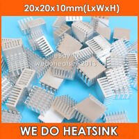 8pcs WE DO HEATSINK 20mm 20*20*10mm Aluminum Heatsink Heat Sink For Computer IC