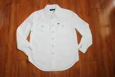 NWT BOYS RALPH LAUREN POLO SZ M 10-12 WHITE SHIRT