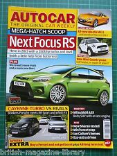 Autocar 2010 Test: Mitsubishi ASX Cayenne Turbo vs RR Sport Infiniti FX Focus RS