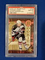 THOMAS VANEK PSA 10 2005-06 UPPER DECK POWER PLAY ROOKIE CARD #144