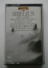 CASSETTE-SIBELIUS: FINLANDIA,SWAN OF TUONELA,KARELIA SUITE,VALSE TRISTE, EN SAGA
