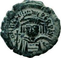 Byzantine Coin Half Follis Heraclius Cyzicus Genuine