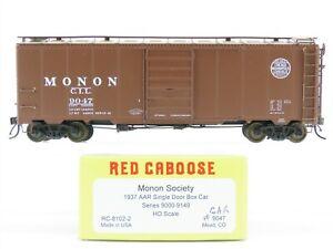 HO Scale Red Caboose RC-8102-2 CIL MONON 1937 AAR Single Door Box Car #9047
