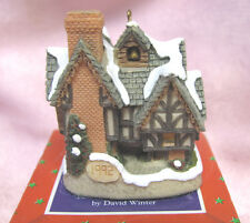 David Winter 1992 Christmas Ornament Scrooge'S School in Box - John Hine Studios