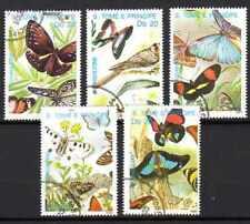 Papillons St Thomas et prince (19) série complète de 5 timbres oblitérés