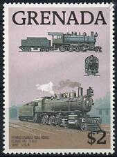 PENNSYLVANIA RAILROAD Class H6 2-8-0 (1899) Grenada Train Stamp 1989