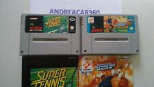 SUPER TENNIS + INTERNATIONAL SUPERSTAR SOCCER DELUXE SNES Games + Instructions