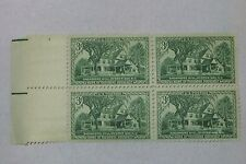 $0.03 Cents Home of Theodore Roosevelt Stamps Plate Block of 4
