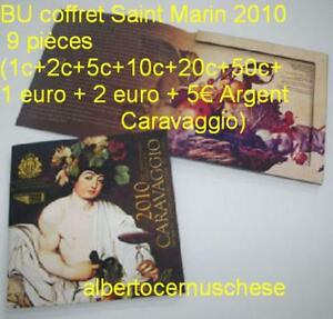 2010 SAN MARINO 9 monete EURO BU Saint Marin Caravaggio